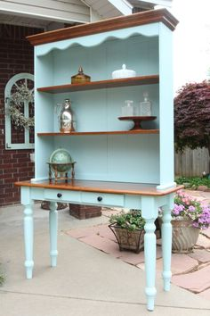 Display hutch...before and after! —