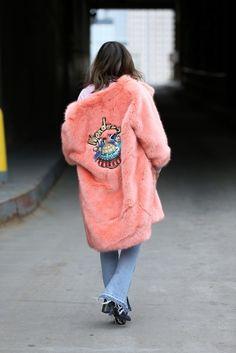 Street fashion na Fashion Weeku w Nowym Jorku