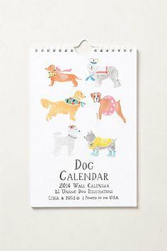 Dogs 2014 Calendar  #anthropologie  #stockingstuffer