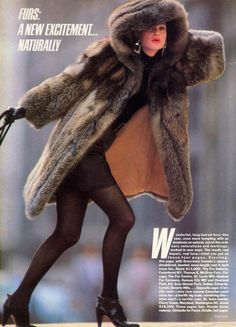 US Vogue October 1985 Furs: A New Excitement...Naturally