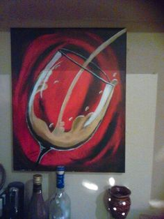 Wine painting I did at Painting with a Twist