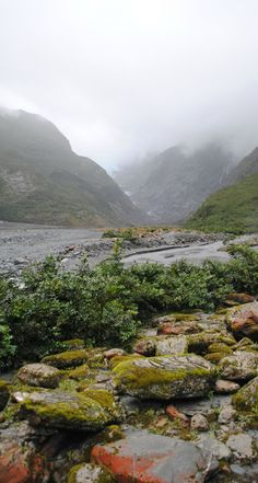 Franz Josef Glacier hike, seeing before and after serious flooding.