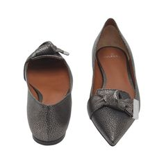 Kensington Slipper in Dark Silver Metallic Goat | women | Mulberry
