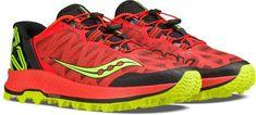 Saucony Men's Koa ST Trail-Running Shoes Orange/Citron 10.5