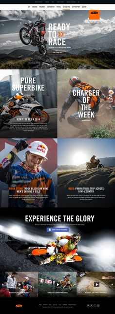 KTM.com Landing Pages by Dann Petty