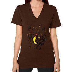 Roseanne Chicken V-Neck (on woman) Shirt
