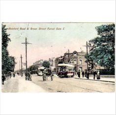 London East: Romford Road & Green Street Forest Gate - Charles Martin Postcard on eBid United Kingdom Newham, Green Street, Postcards, United Kingdom, Gate, Street View, London, Portal, England