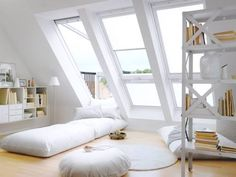 For those who love bright, clean rooms - just look at how the light bounces around this white and lofty space!