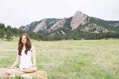 Meditate outdoors
