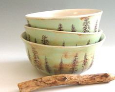 Hey, I found this really awesome Etsy listing at http://www.etsy.com/listing/150750581/handmade-pottery-bowl-pine-trees