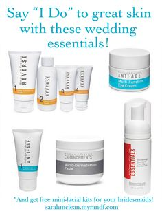 skincare wedding bridal party bridesmaid gifts spa facials mini facials - pre-wedding day activities  Message me about getting great skin for your big day!