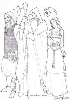Thor, Odin and Freyja by detvarjohanna.deviantart.com on @DeviantArt