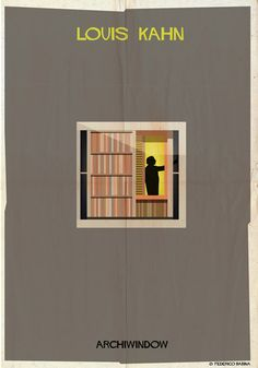 Archiwindow by Federico Babina \ Louis Kahn Louis Kahn, Famous Architecture, Architecture Images, Architecture Drawings, Architecture Posters, Le Corbusier, Alvar Aalto, Frank Lloyd Wright, Zaha Hadid