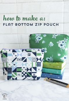 Learn to Sew Series: Stitch an Adorable Zippered Pouch Sewing projects Easy Sewing Projects, Sewing Projects For Beginners, Sewing Hacks, Sewing Tutorials, Sewing Tips, Sewing Basics, Sewing Ideas, Makeup Bag Tutorials, Free Tutorials