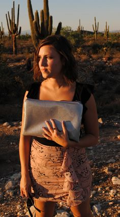 Retro deer clutch with silver sparklies, $34.00