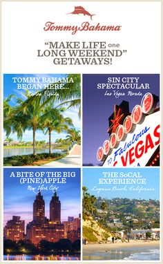 Make life one long weekend! Tommy Bahama is giving away FOUR getaways plus - enter daily thru 11/24!  other prizes. Enter now – I just did!