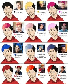 Image result for markiplier hair colors