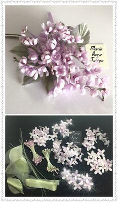 Yoko Asai Cream Flowers, Small Flowers, Flower Crafts, Flower Art, Music Crafts, Handmade Flowers, Flower Making, Fabric Flowers, Flower Arrangements