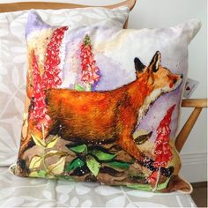Fox Hunting Trophy Belgian Tapestry Cushion - A Bentley Cushions Seat Pads, Chair Pads, Victorian Bedroom, Fox Hunting, The Fox And The Hound, Printed Cushions, Cushion Pads, Artwork Design, Tapestry Wall Hanging