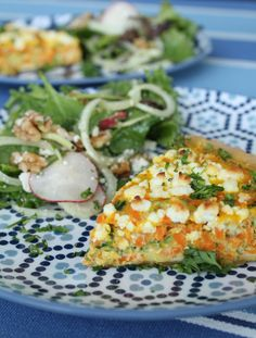 Summer Styled Lunch - zucchini and carrot quiche