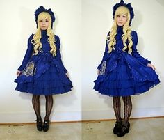 Lovely Blasphemy - Angelic Pretty 秘密の宝箱ワンピース, Angelic Pretty 秘密の宝箱ハーフボンネット, Gothic Lolita Wigs Spiral Collection   Blondie, Liz Lisa Shoes - 秘密の宝箱ワンピース