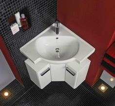 Bathroom Sinks Modern corner bathroom sinks creating space saving modern bathroom design