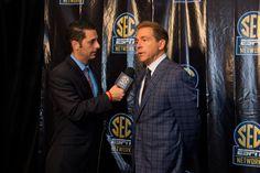 Alabama head coach Nick Saban at the SEC Network announcement