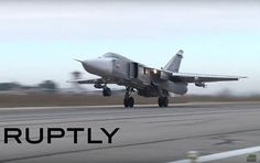 WATCH: Russian warplanes take off from the Hmeymim airbase in Syria.