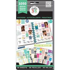 Me & My Big Ideas - Create 365 Happy Planner - Value Pack Stickers - Colour-Coordinated Sheets