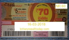 Nirmal Lottery Result 16-03-2018 Lottery Result Today, Lottery Results, Lottery Drawing, State Lottery