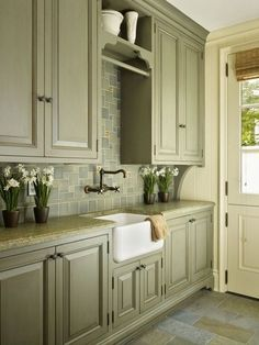 Einfache Olive Green Kitchen #Badezimmer #Büromöbel #Couchtisch #Deko Ideen  #Gartenmöbel #