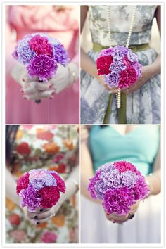 look like carnations, but they're actually tissue paper!