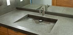 Vanity tops with integrated sink for bathroom