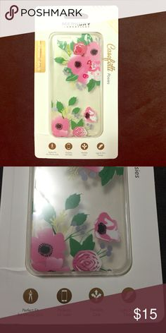 iPhone 6 Floral Case Brand new! Perfect fit for iPhone 6 it's very flexible and still protective around all 4 sides for full coverage and allows your phone to keep its slim figure! Merkury Accessories Phone Cases