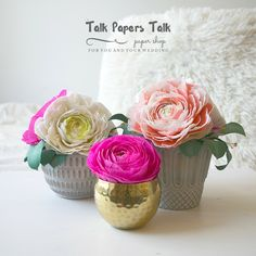 Items similar to 7 Ranunculus - Bed stand decor - Bed table decor - Shelves display - Wedding paper flower centerpieces - Shelves decor on Etsy