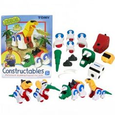 Dino Constructables Build Moving Dinosaurs Set - Educational Toys Planet. Great gift for 3 years old child. Tomy Dino Constructables Build Moving Dinosaurs Set lets preschool paleontologist construct such prehistoric beasts as the T-Rex, Triceratops, Brontosaurus, and the Mastodon Develops Skills - building skills, pretend play, manipulative skills, dinosaurs. #toys #learning #educational #gifts #child https://www.educationaltoysplanet.com/dino-constructables-build-moving-dinosaurs.html