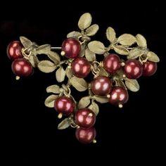 CRANBERRIES - MICHAEL MICHAUD Cranberry Brooch