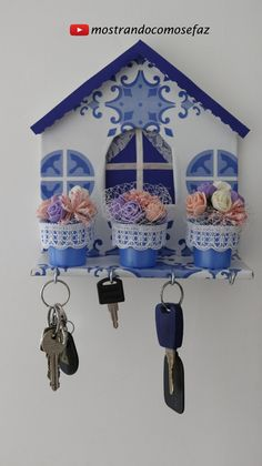 Pin on Key holder diy Kids Crafts, Diy Crafts Hacks, Craft Stick Crafts, Home Crafts, Diy And Crafts, Paper Crafts, Decoupage Vintage, Diy Crafts Scrapbook, Driftwood Wall Art