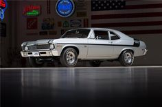 One of 175 built and one of 25 with a silver, Code 14 exterior, according to Super Chevy magazine. Powered by a Camaro Corvette 350 engine, a Muncie. Old Muscle Cars, American Muscle Cars, Super Chevy Magazine, Yenko Camaro, Detroit Cars, Chevy Nova, Nova Car, Gm Car, Tuner Cars