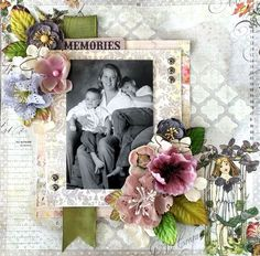Digital Scrapbook Page Inspiration, Fairy Rhymes layout by Cari Fennell for Prima