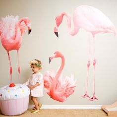 Floral Flamingo 2nd birthday party   100 Layer Cakelet