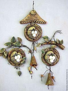 """Купить Панно """" Счастливое гнёздышко"""" - гнездо, оберег для дома, семейный подарок, семейный очаг"""