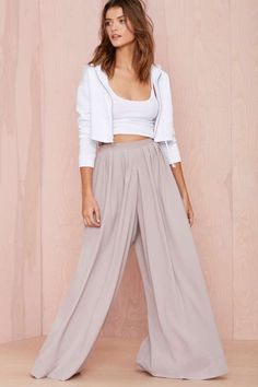 In Motion Palazzo Pants - Gray