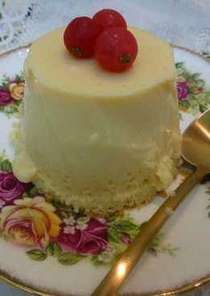 Flan de chocolate blanco, para diabéticos