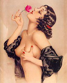 """""""Memories of Olive"""" painted by Alberto Vargas"""