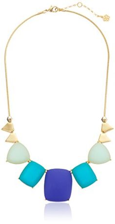 """Trina Turk """"Sole West"""" Gold-Plated Smooth Stone Necklace, 18"""" - http://www.sparklingheaven.com/trina-turk-jewelry/trina-turk-sole-west-gold-plated-smooth-stone-necklace-18/"""