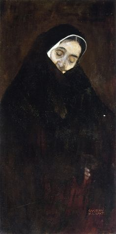 Gustav Klimt, Old Woman. Being brought up by nuns .. I can definitely relate to this piece