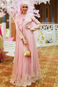 ELHASBU pink long dress