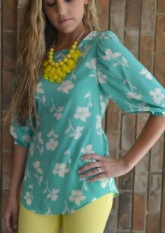 $56. Teal Me What You Really Think Top