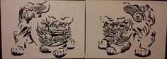 Okinawa Shisa Dogs hand painted by HPCAP on Etsy